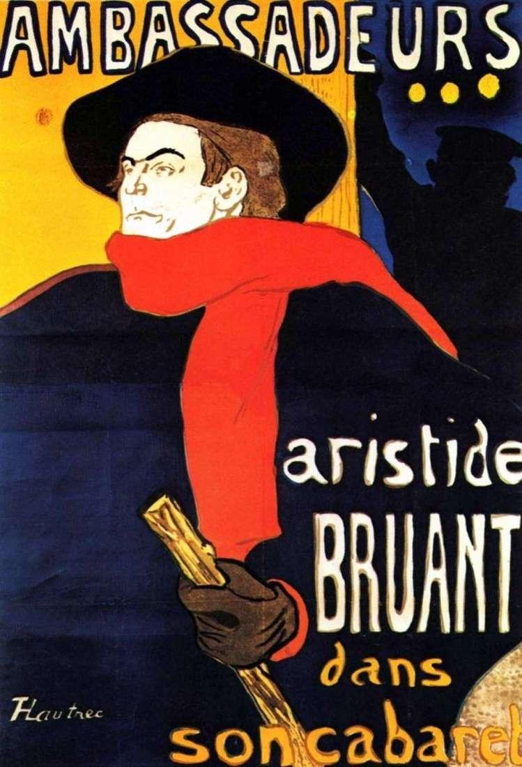 Аристид Брюан в Амбассадер   Анри де Тулуз Лотрек