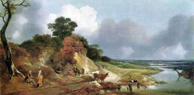 Вид близ деревни Корнард   Томас Гейнсборо