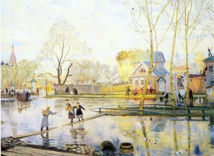 Весна   Борис Кустодиев