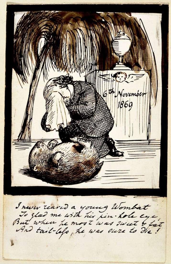 Автопортрет художника, рыдающего на могиле вомбата   Данте Россетти