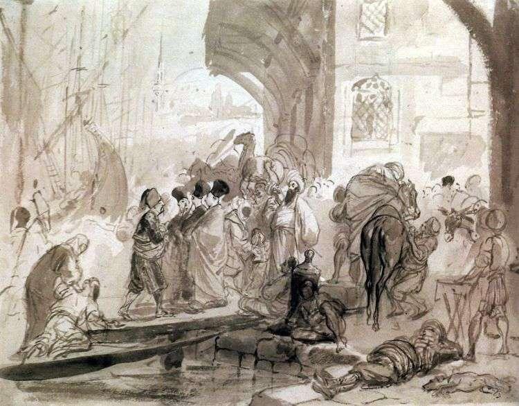 Гавань в Константинополе   Карл Брюллов