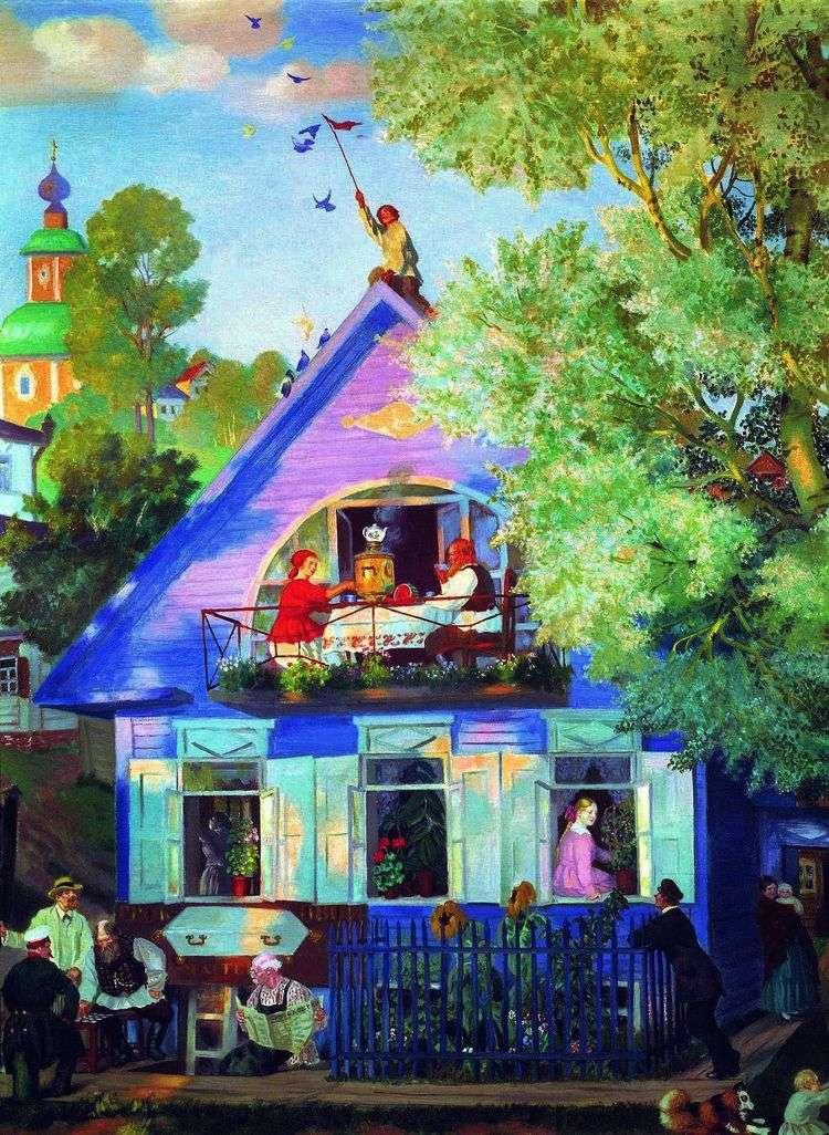 Голубой домик   Борис Кустодиев