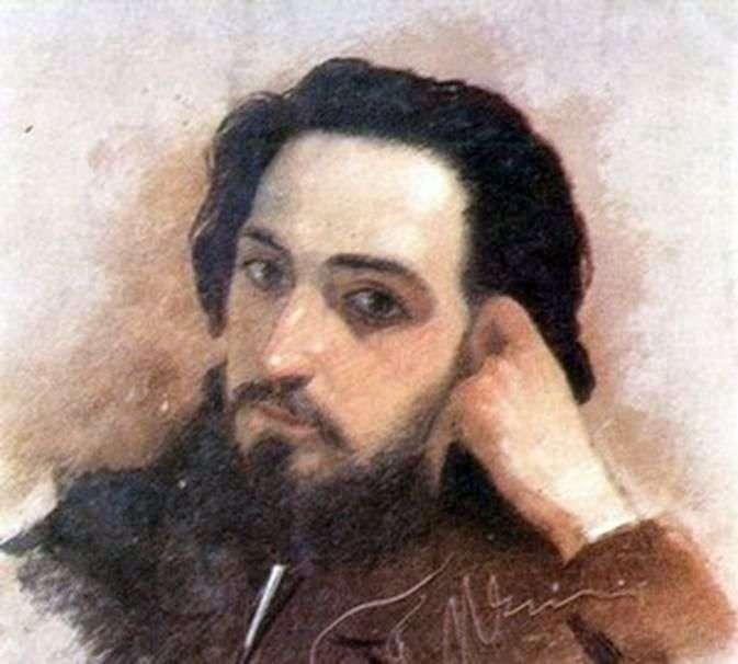 Портрет В. М. Гаршина   Григорий Мясоедов