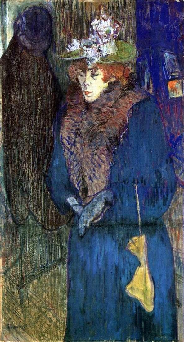 Джейн Авриль, входящая в Мулен Руж   Анри де Тулуз Лотрек
