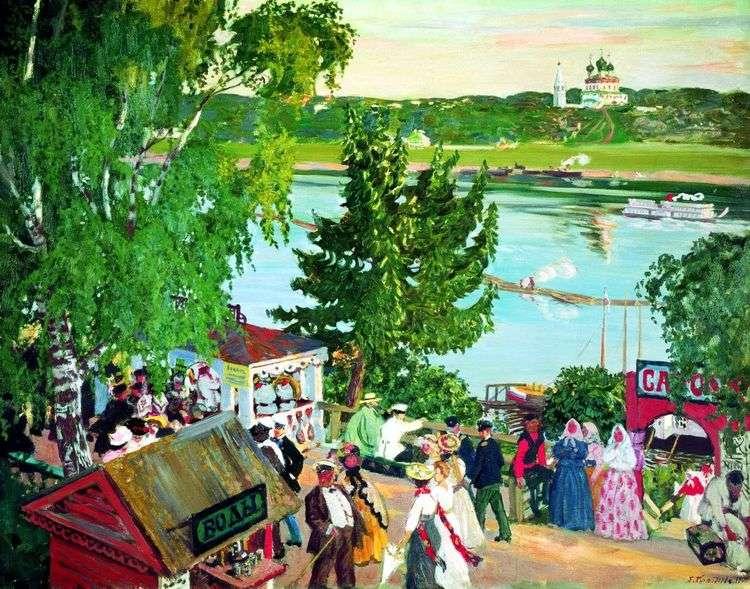 Гуляние на Волге   Борис Кустодиев