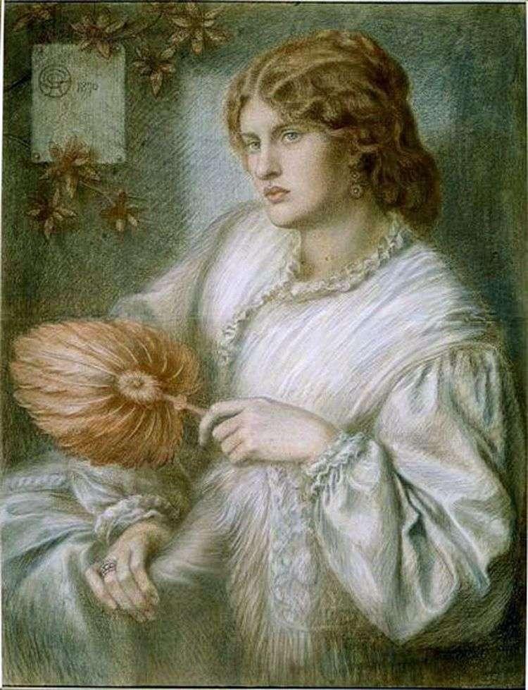 Женщина с веером   Данте Россетти
