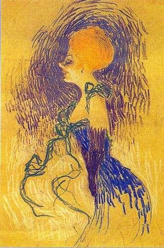 Молодая женщина в перчатках   Анри де Тулуз Лотрек