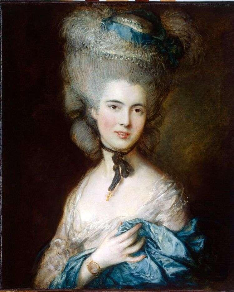 Портрет герцогини де Боуфорт (Дама в голубом)   Томас Гейнсборо