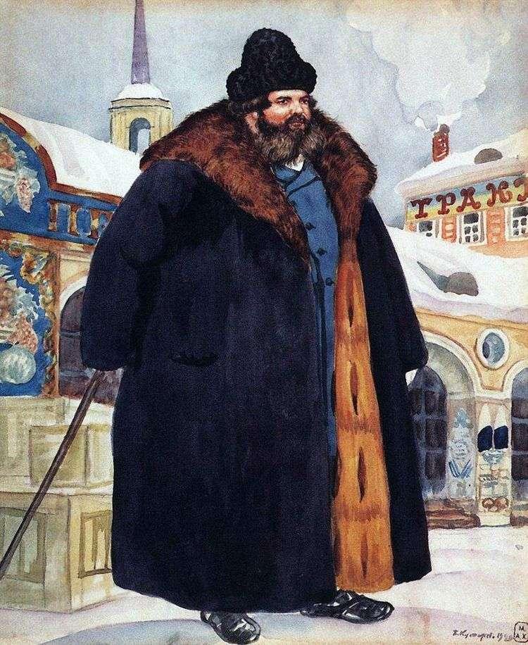 Купец в шубе   Кустодиев