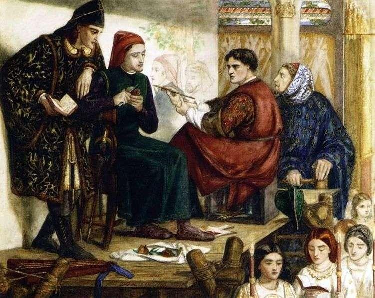Джотто пишет портрет Данте   Уильям Майкл Россетти