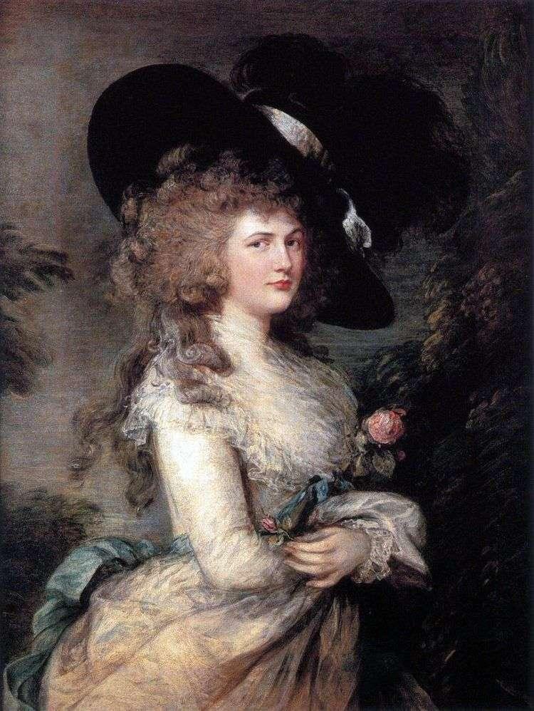 Портрет Джорджианы, герцогини Девонширской   Томас Гейнсборо