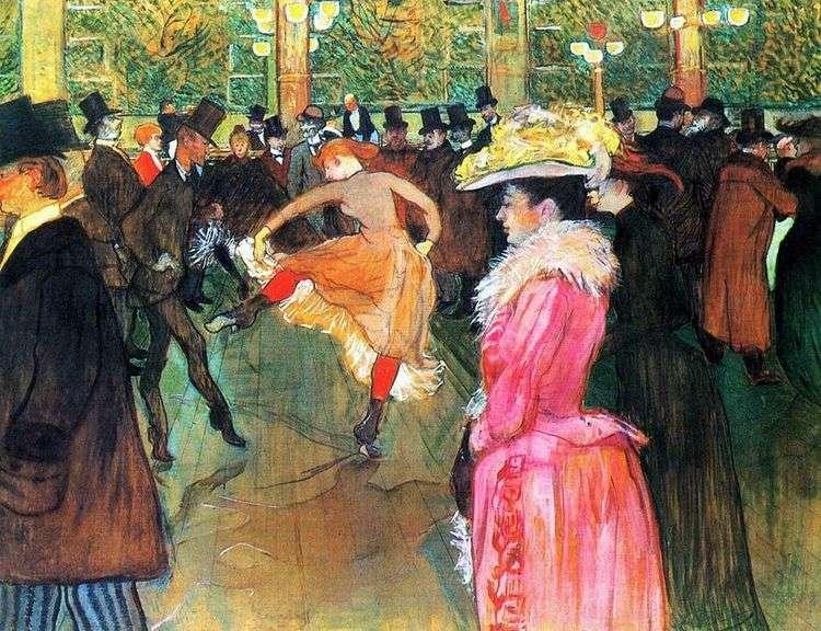 Танец в Мулен Руж   Анри де Тулуз Лотрек