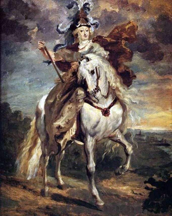 Мария Медичи в бою при Пон де Се   Теодор Жерико