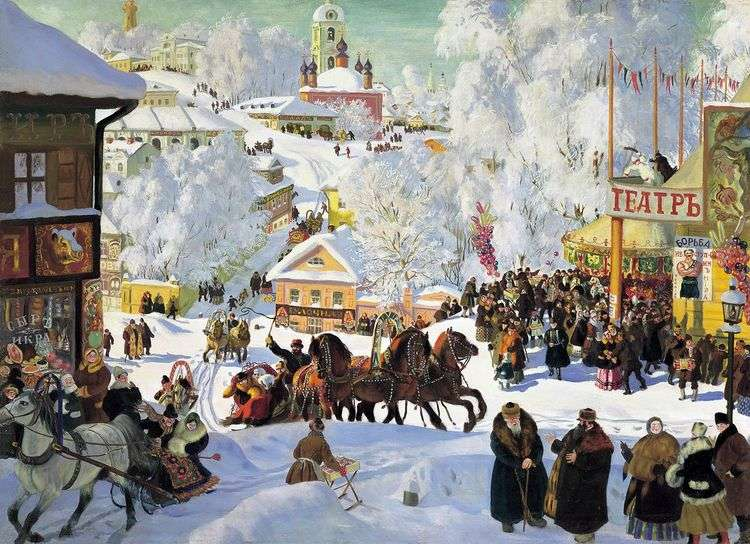 Масленица (Масленичное катание)   Борис Кустодиев