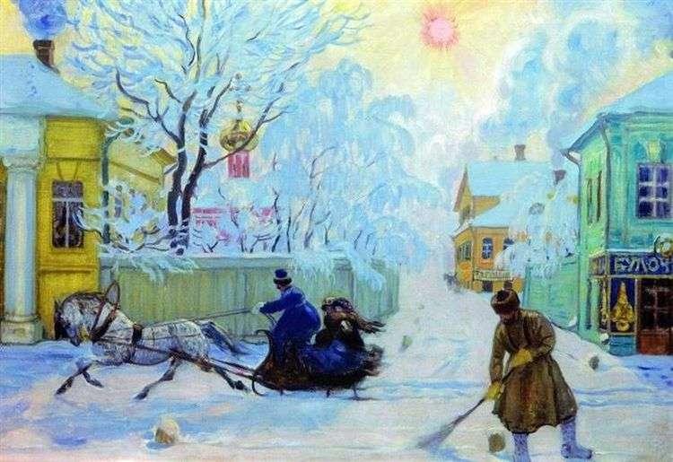 Морозный день     Борис Кустодиев