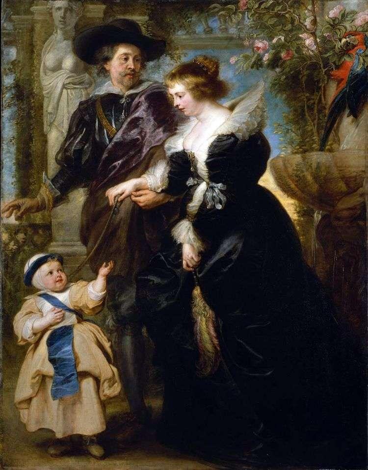 Автопортрет с Еленой Фоурмен и сыном   Питер Рубенс