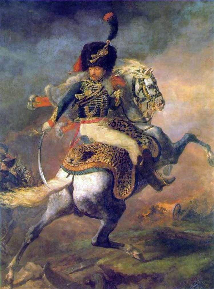 Офицер конных егерей императорской гвардии, идущий в атаку   Теодор Жерико