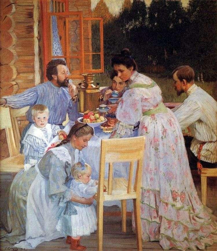 На террасе   Борис Кустодиев