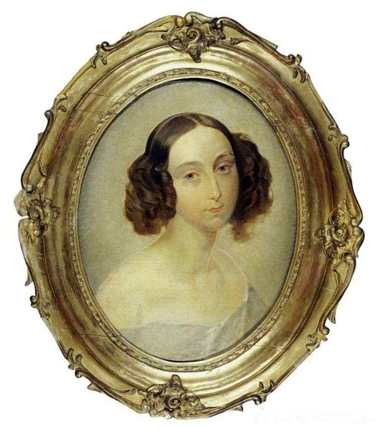 Портрет Великой княгини Ольги Николаевны   Карл Брюллов