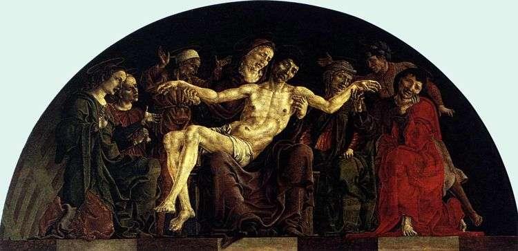 Пьета со святыми. Алтарь Святого Георгия в Ферраре   Козимо Тура