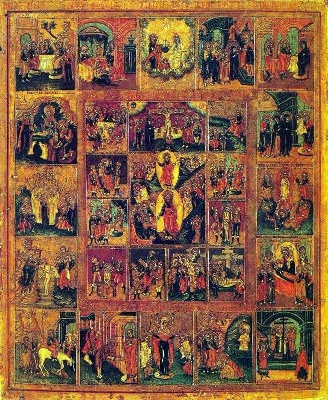 Воскресение Христово с праздниками и Страстями Христовыми