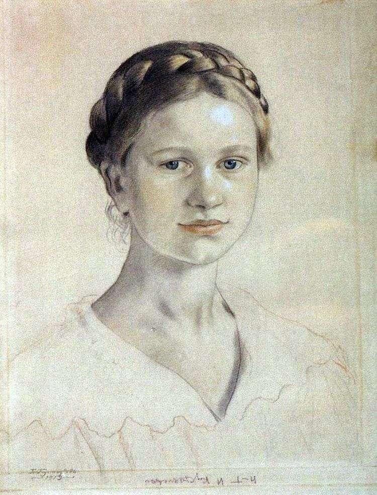 Портрет И. Б. Кустодиевой   Борис Кустодиев