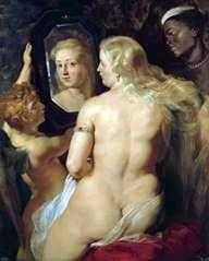 Венера у зеркала   Питер Рубенс