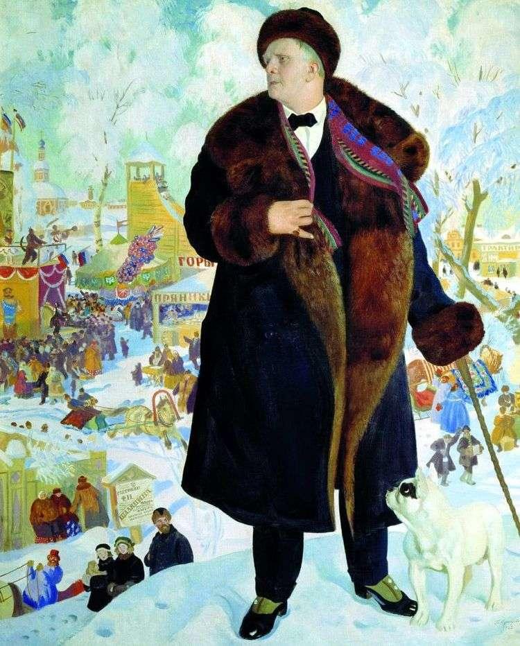 Портрет Шаляпина   Борис Кустодиев
