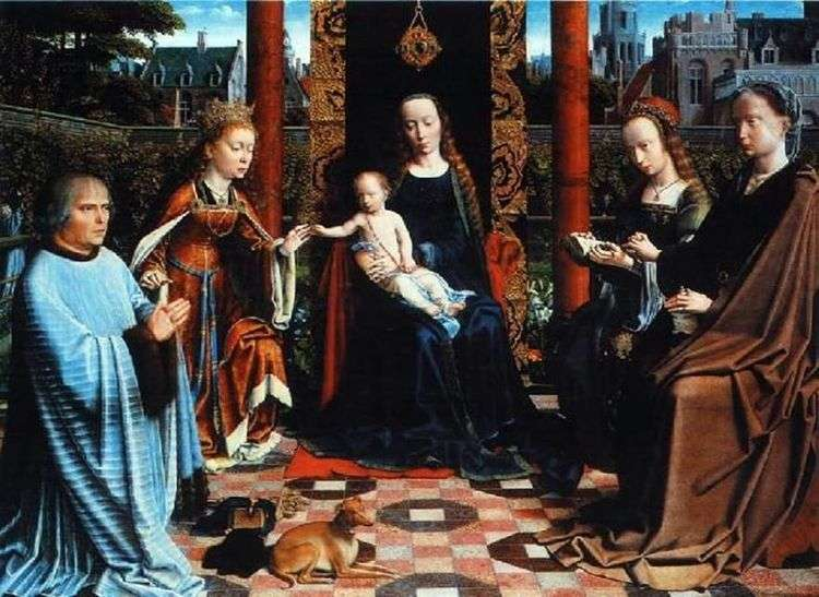Мадонна с Младенцем, Святыми и донатором   Давид Герард