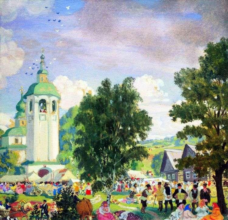Сельский праздник   Борис Кустодиев