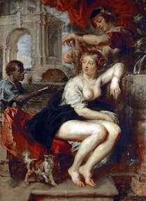Вирсавия у фонтана   Питер Рубенс