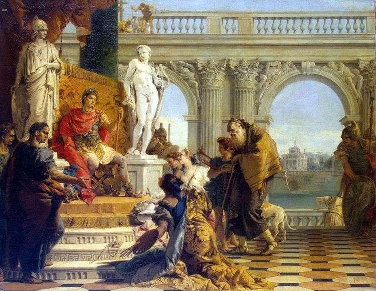 Меценат представляет императору Августу свободные искусства   Джованни Баттиста Тьеполо