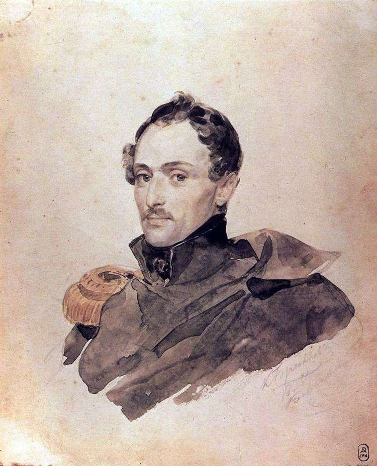 Портрет капитана Б. Костецкого   Карл Брюллов