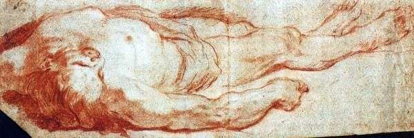 Мужчина, лежащий на земле   Джованни Баттиста Тьеполо