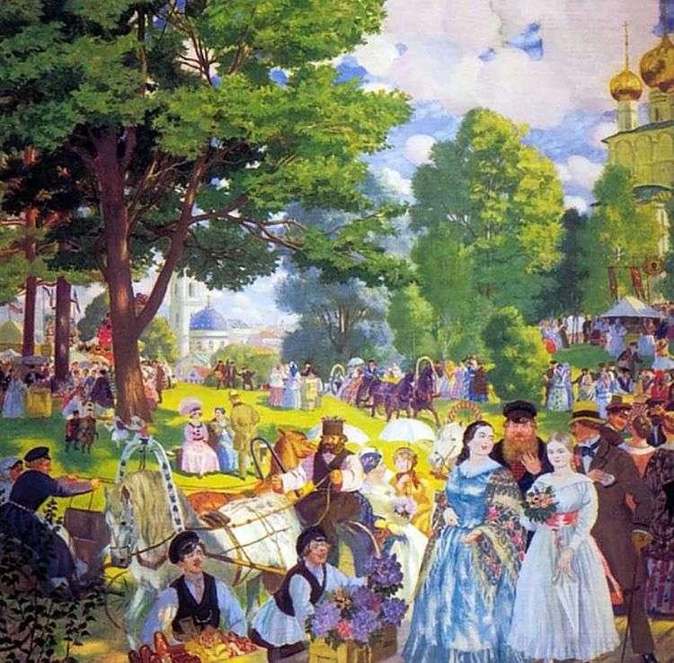 Троицын день   Борис Кустодиев