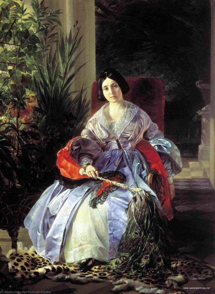 Портрет светлейшей княгини Елизаветы Павловны Салтыковой   Карл Брюллов