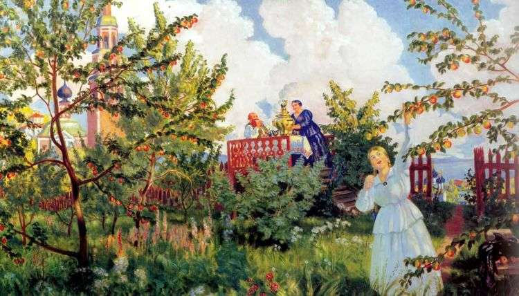Яблоневый сад   Борис Кустодиев
