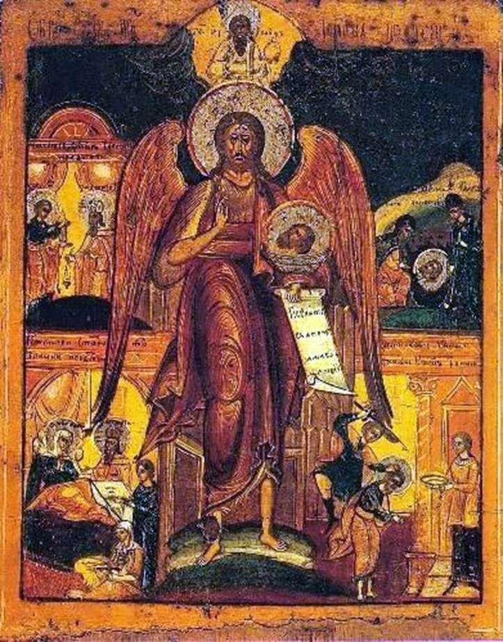 Иоанн Предтеча   Ангел пустыни, со сценами жития