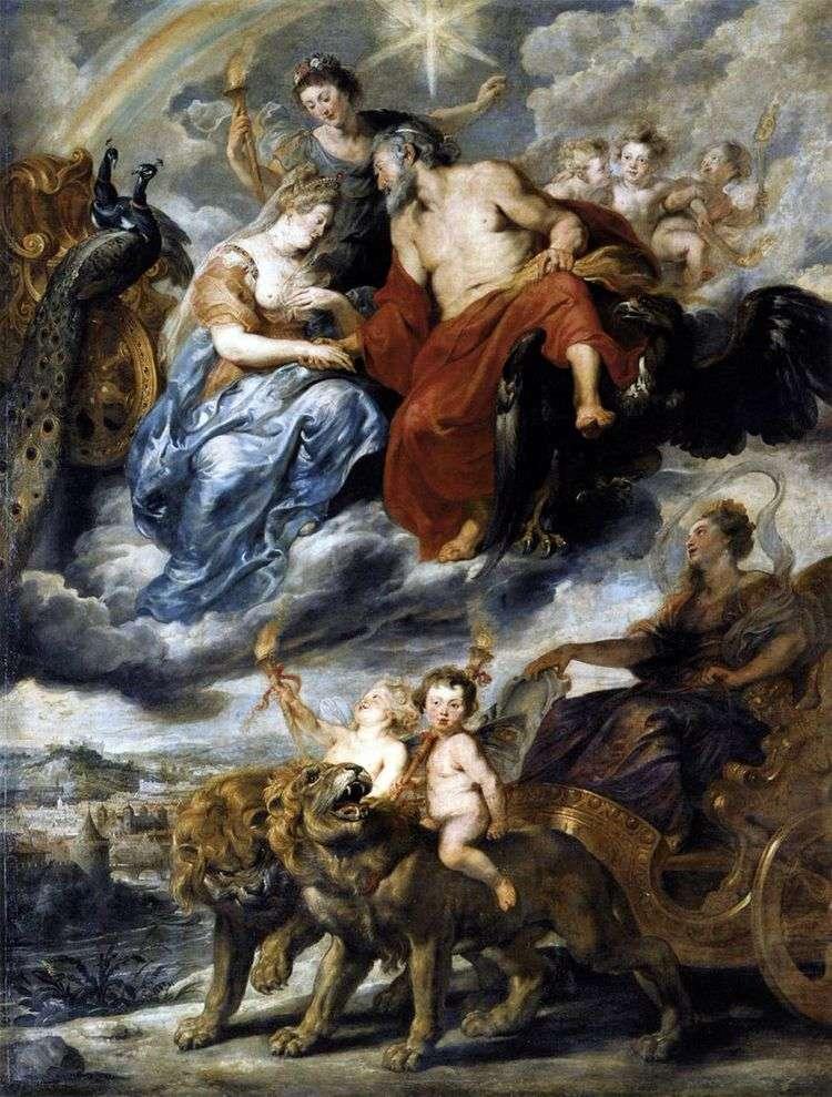 Встреча Марии Медичи и Генриха IV в Лионе   Питер Рубенс