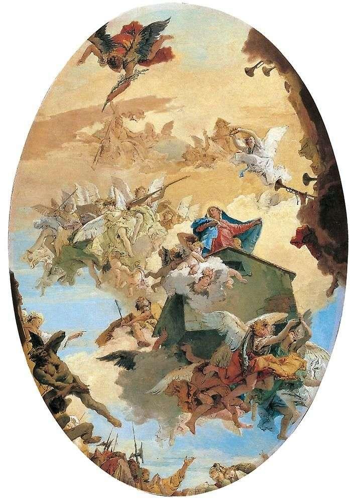 Перенесение домика Марии из Назарета в Лорето   Тьеполо
