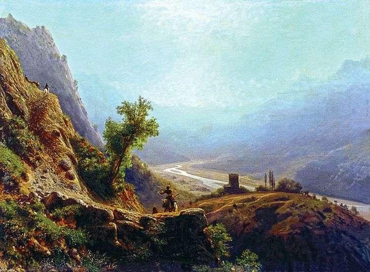 В горах Кавказа   Лев Лагорио