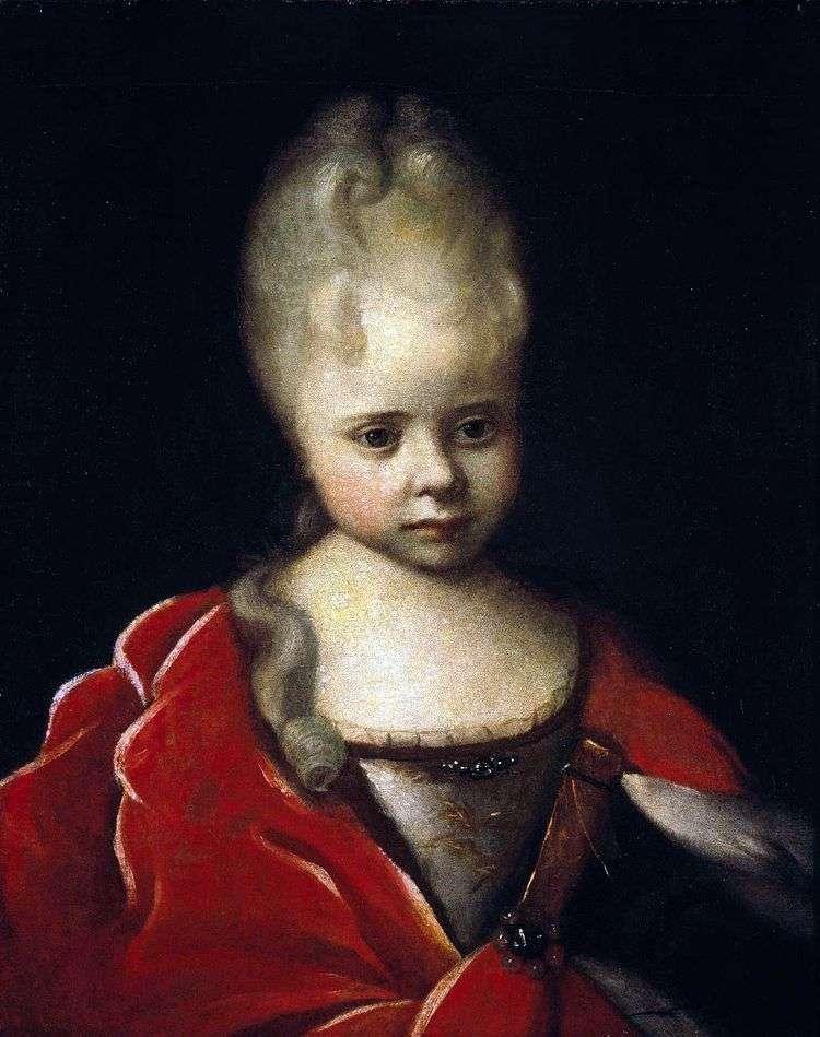 Портрет Елизаветы Петровны ребенком   Иван Никитин