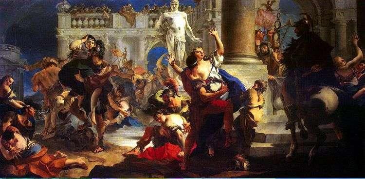 Похищение сабинянок   Джованни Баттиста Тьеполо