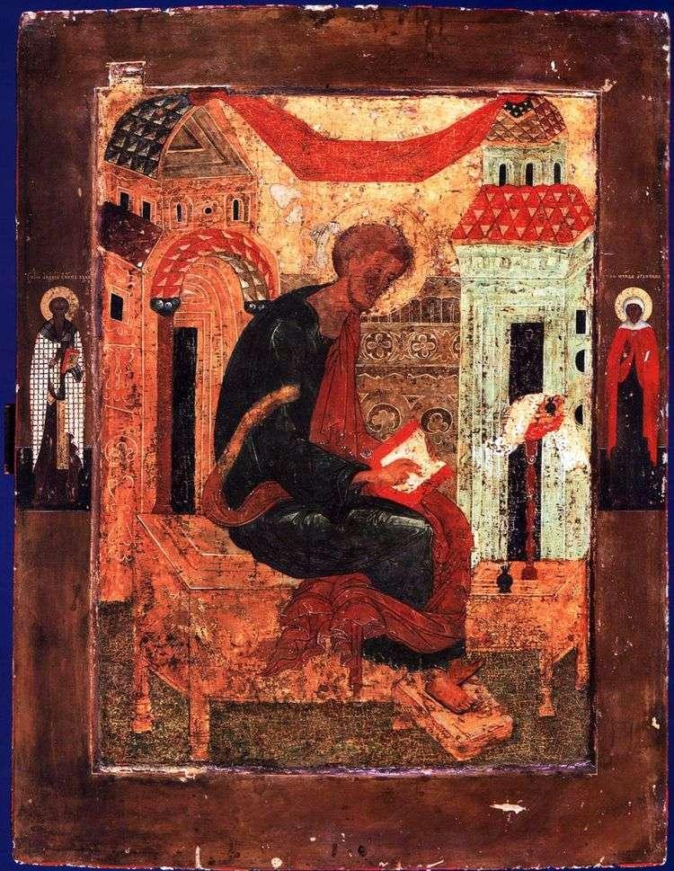 Лука Евангелист, со Святыми на полях