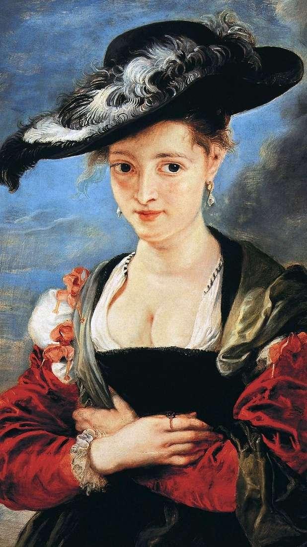 Дама в соломенной шляпке   Питер Рубенс