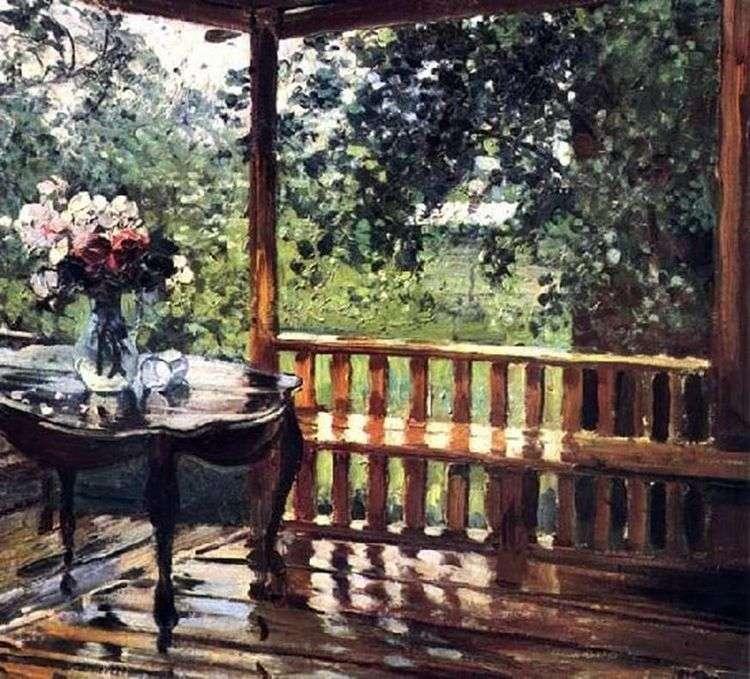 После дождя (Мокрая терраса)   Александр Герасимов