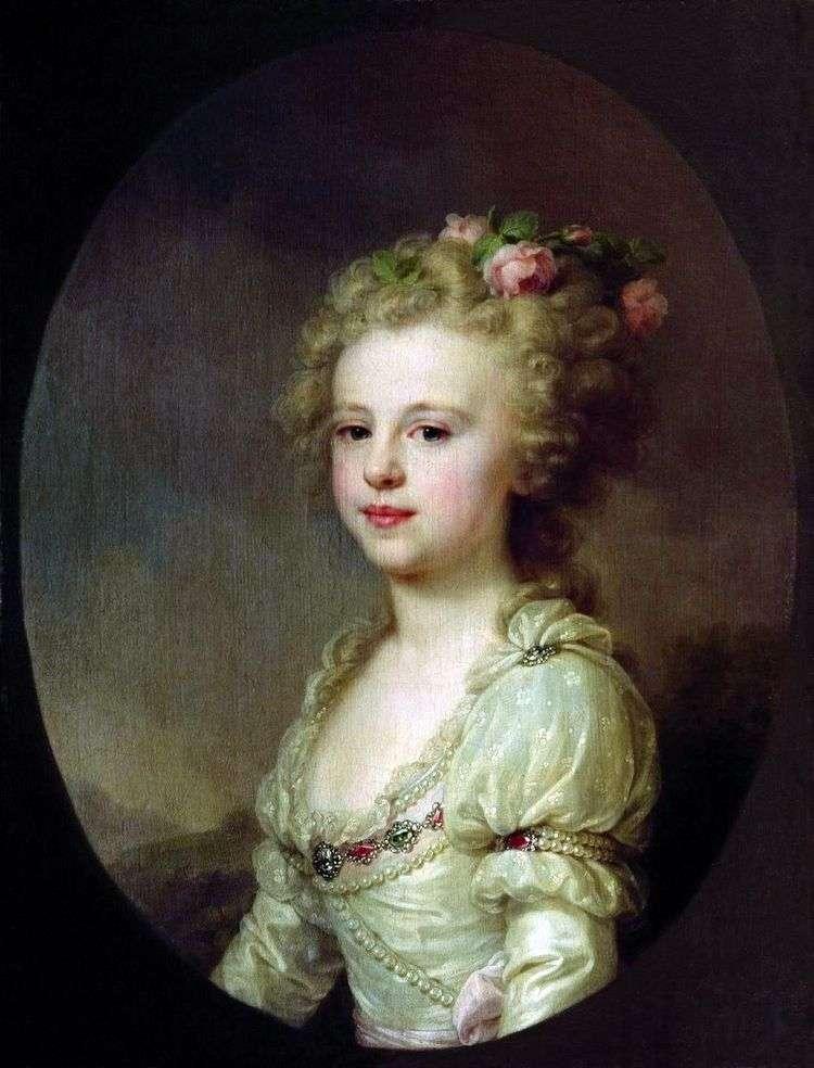 Портрет великой княжны Александры Павловны в детстве   Иоганн Баптист Лампи