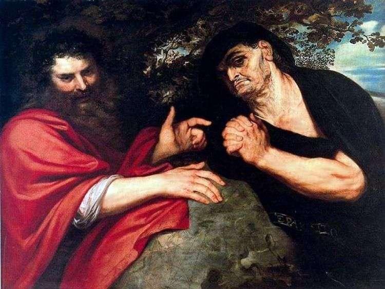 Демокрит и Гераклит   Питер Рубенс