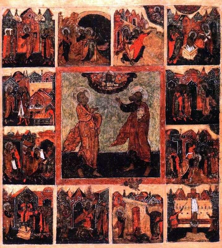 Первоверховные апостолы Петр и Павел, с деяниями в 12 клеймах