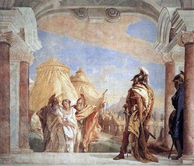 Эврибат и Талфибий, ведущие Брисеиду к Агамемнону   Джованни Баттиста Тьеполо